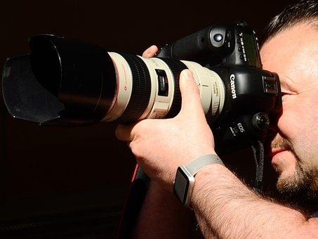 Photographer, Camera, Lens, Photograph, Photography