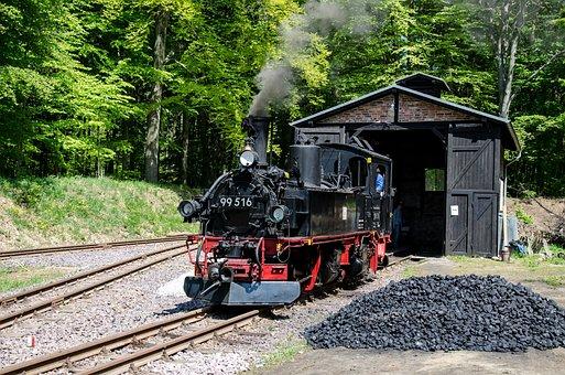 Steam Locomotive, Historically, Locomotive, Railway