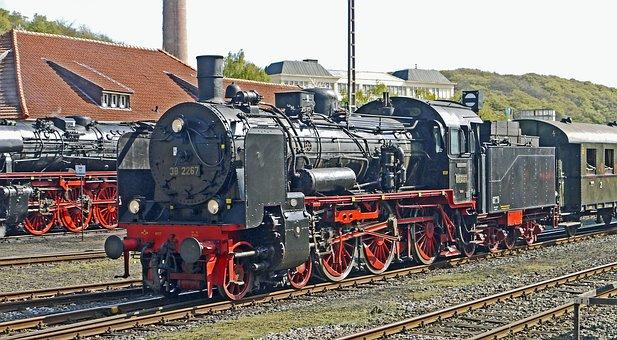 Steam Locomotives, Railway Museum, Bochum-dahlhausen