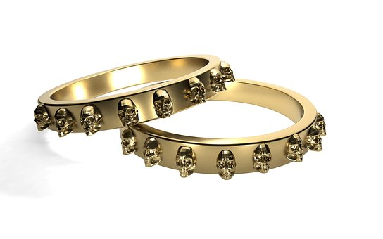 Rings, Gold, Skull And Crossbones, Golden Ring