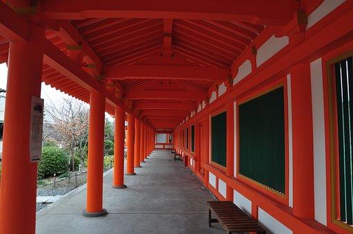 Japan, Sanjusangendo, Cloister