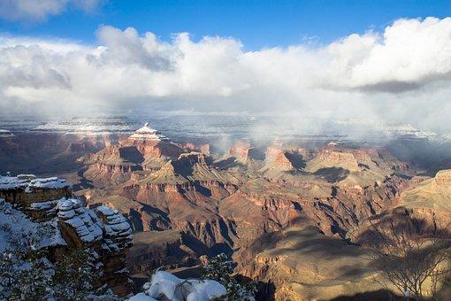 Grand, Canyon, Winter, Landscape, Park, Scenic