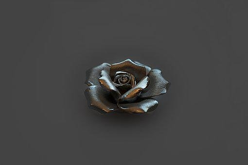 Rose, Silver, Romance, Blossom, Bloom, Decoration