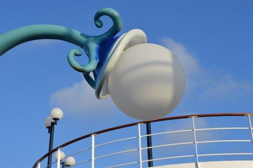 Msc Cruises, Msc Opera, Lamppost, Art, Sky, Lighting