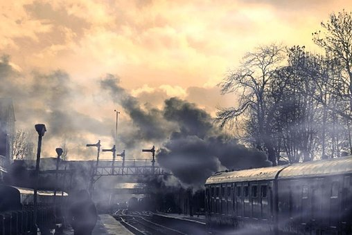 Cloud, Railway, Train, Man, Outdoor, Station, Sky, Male