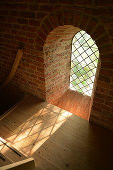 Termunterzijl, Church, Window, Glass, Light, Shadow