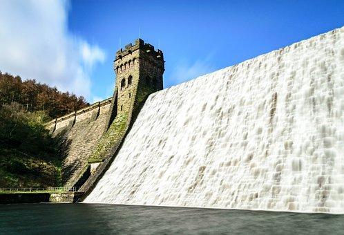 Dam, Wall, Water, Architecture, Reservoir, Landscape