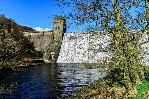 Dam, Wall, Water, Architecture, Reservoir, Landscape