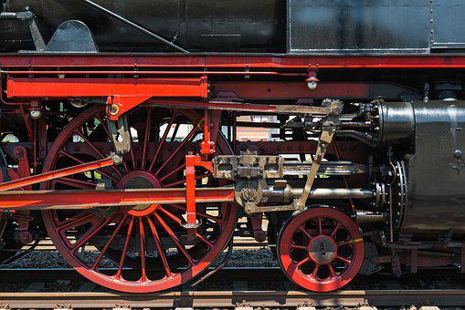 Steam Locomotive, Connecting Rods, Wheels, Chassis