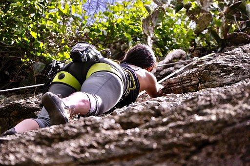 Climbing, Rock Climbing, Sports, Rock Wall, Woman, Girl
