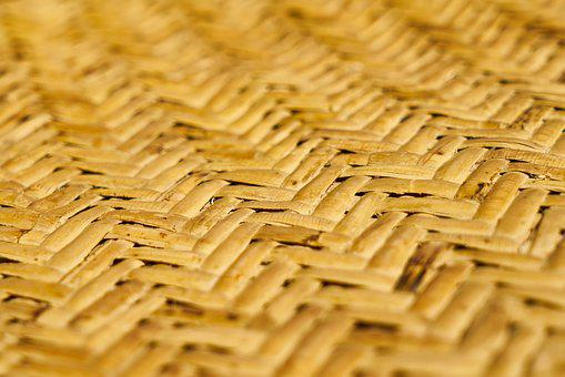 Wicker, Straw, Texture, Background, Yellow, Pattern