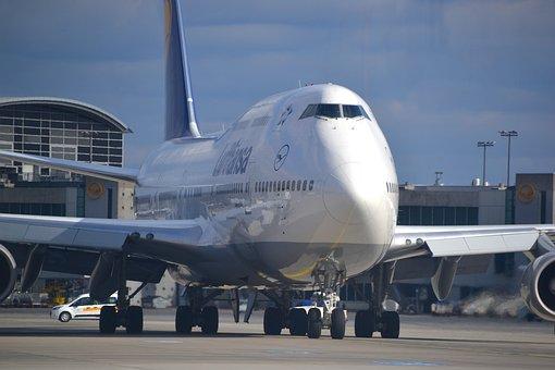 Boeing 747, Aircraft, Airliner, Lufthansa, Aviation