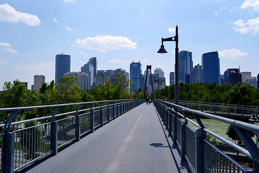 City, Calgary, Alberta, Canada, Cityscape, Skyline