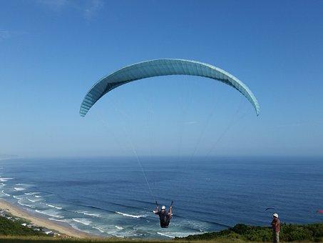 Paragliding, Para, Gliding, Wilderness, Sky, Blue