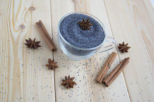 Spices, Mack, Blue, Seasonings, Seeds, Star Anise