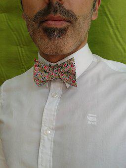 Bow Tie, Liberty Cotton, White Shirt, Craft