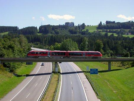 Highway, Train, Bridge, Travel, Seemed, Railway