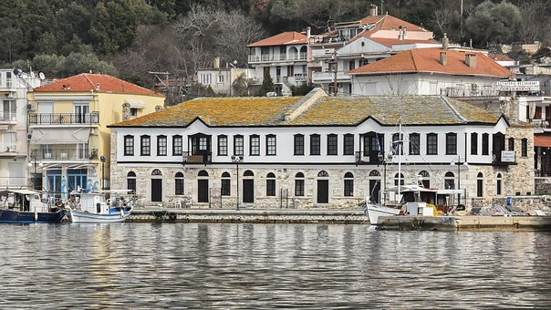 Island, Building, Thasos, Greece, Architecture, Travel
