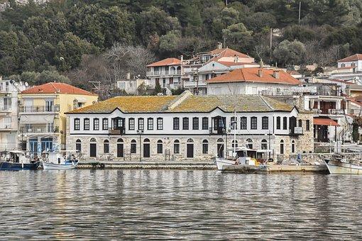 Island, Building, Thasos, Greece, Architecture, Travel