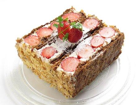 Strawberry, Cake, Fruit, Suites, Sweet, Food, Dessert