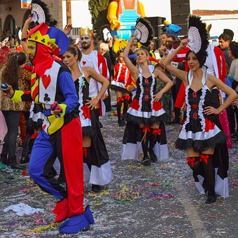 Carnival, Parade, Joker, Girls, Dancers, Dress