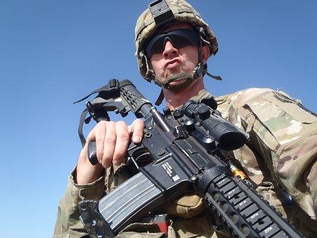 Afghanistan, Scene, War Zone, Cool, Army, Soldier, Gun