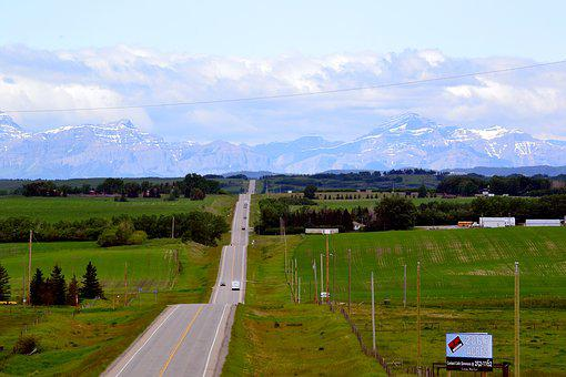 Highway, Foothills, Mountains, Hills, Countryside