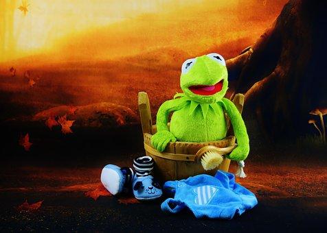 Kermit, Swim, Brush, Bad Day, Funny, Plush, Fun, Toys