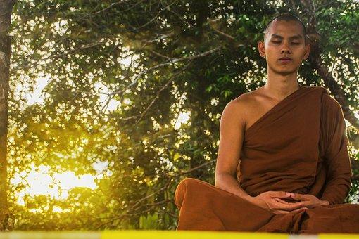 Meditate, Theravada Buddhism, Monk, Meditating Monk