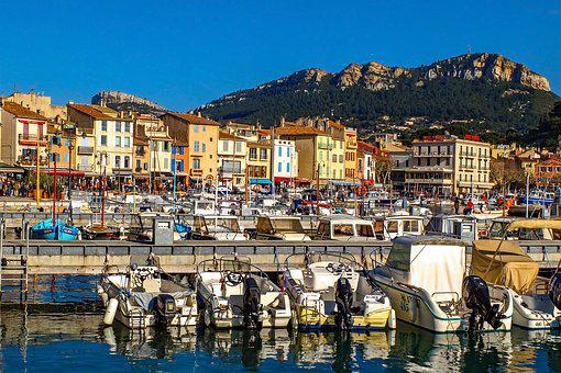 Harbor, Boat, Sea, Port, City, Landscape, Cassis