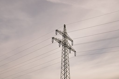 Strommast, Power Line, Current, Electricity, Energy