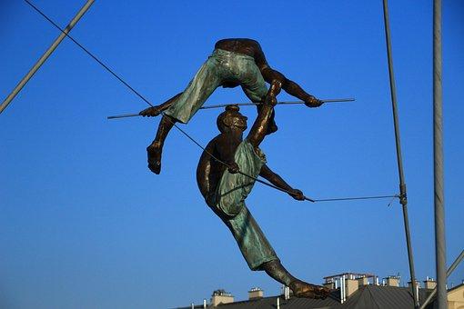Statues, The Art Of, Bridge, Sculpture, Culture, City