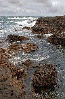 Ireland, Cliffs Of The Giants, Sea