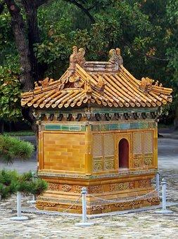 China, Pekin, Beijing, Summer Palace, Pavilion, Doré