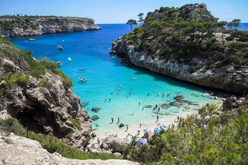Beach, Mallorca, Booked, Cliff, Nature, Summer, Sun