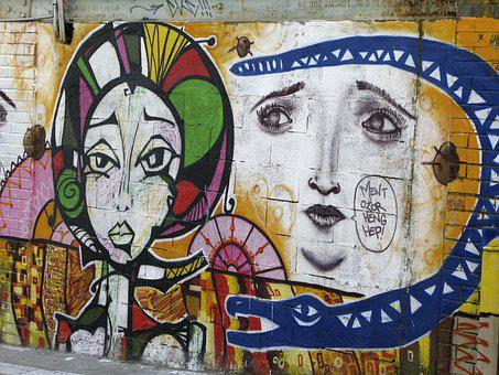 Graphiti, Painting, Tag, Street Art, Bomb, Mural