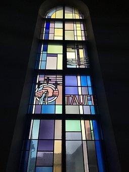 Window, Church, Baptism, Tuttlingen, Germany, Light