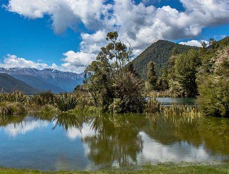Lake, Mountains, New Zealand, Landscape, View, Nature