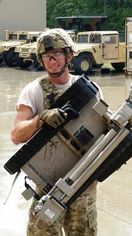 Afghanistan, Scene, War Zone, Army, Rain, Robot