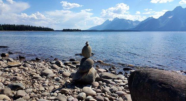 Rocks, Marker, Stone, Nature, Landscape, Water, Travel