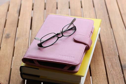 Glasses, Tablet, Book, Office, Outside, Working