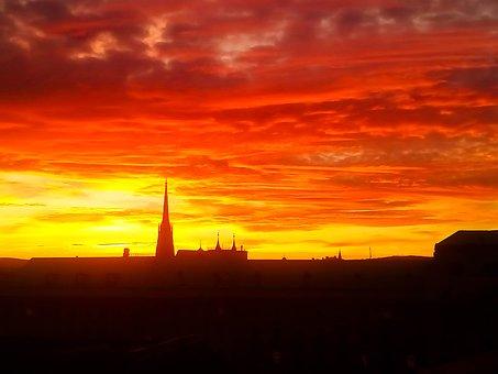 Sky, Afterglow, Sunset, Clouds, Evening Sky, Mood