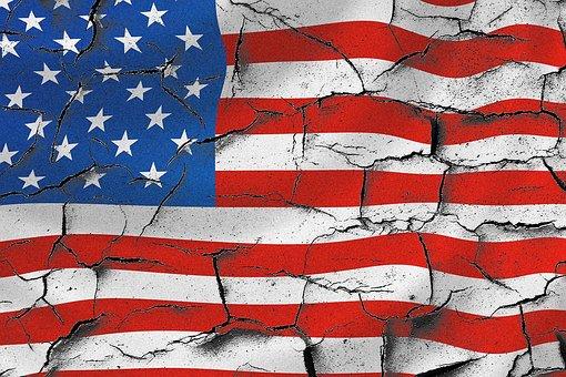 Usa, American Flag, Cracked Usa Flag