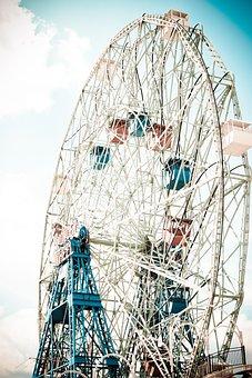 Amusement Park, Coney Island, Nyc, Beach, Amusement