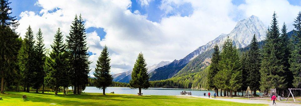 Landscape, Dolomites, Antholz-see, Antholz, South Tyrol