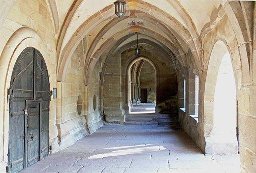 Vault, Monastery, Maulbronn, Medieval, Abbey, Archway