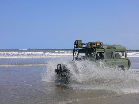 Landrover, Beach, Fun, Adventure, Freedom, Water