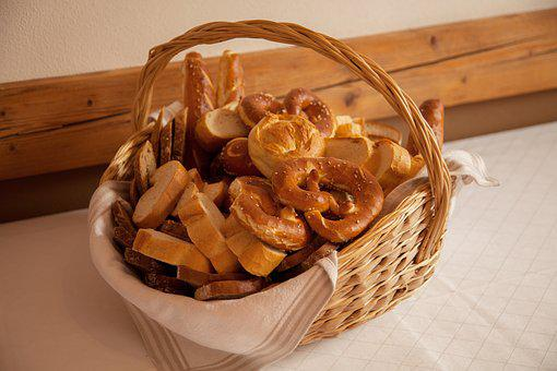Breadbasket, Bread, Eat, Baked Goods, Breakfast, Basket