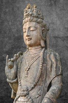 China, Hong Kong, Buddha Statues, Sculpture