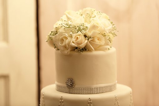 Cake, Flowers, Wedding
